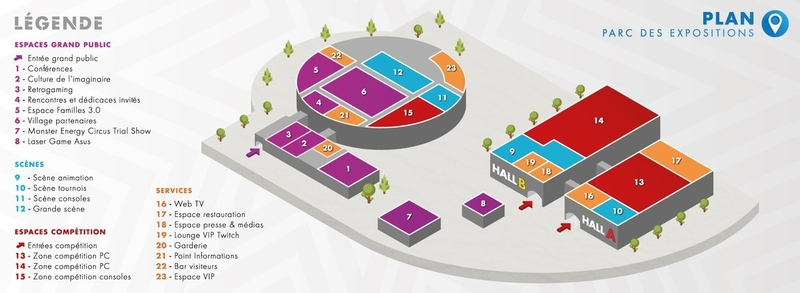 Map of the Gamers Assembly exhibition areas