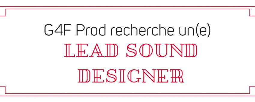 Recherche Lead Sound Designer