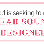 G4F Prod is seeking to recruit a Lead Sound Designer