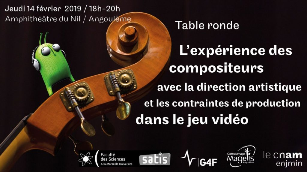 Table ronde sur la composition musicale pour le jeu vidéo en collaboration avec G4F
